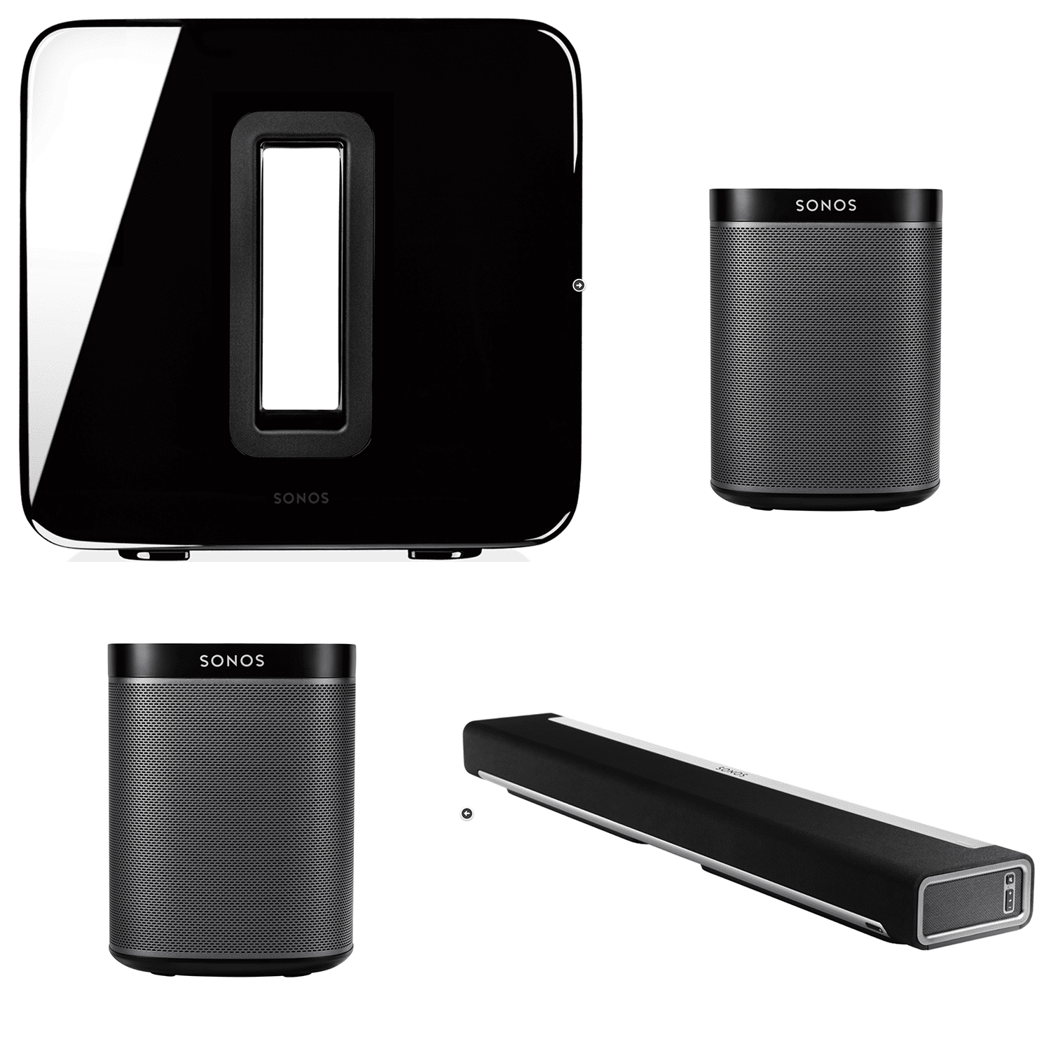 sonos 5 1 play 1 surround sound bundle wlan audio. Black Bedroom Furniture Sets. Home Design Ideas